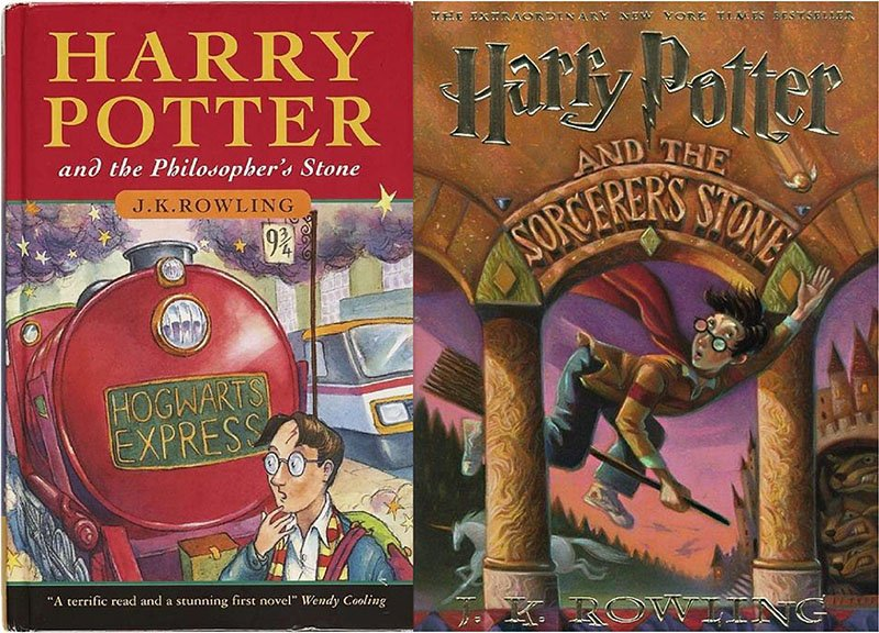 Why was the name of the first Harry Potter book changed? (Philosopher's Stone vs Sorcerer's Stone)